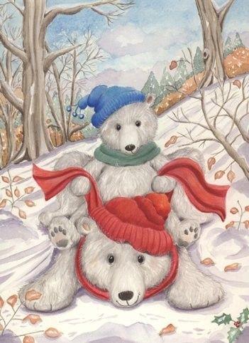 polar bears winter pinterest teddy bear cartoon. Black Bedroom Furniture Sets. Home Design Ideas