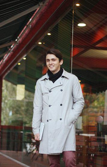 Topman Raincoat, H&M Scarf, Topman Trousers