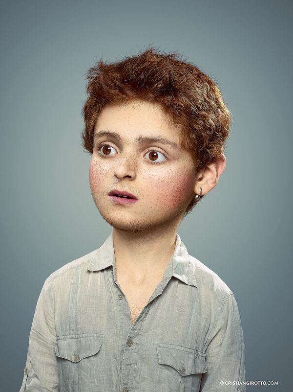Bizarre Manipulated Portraits of Adults as Little Children