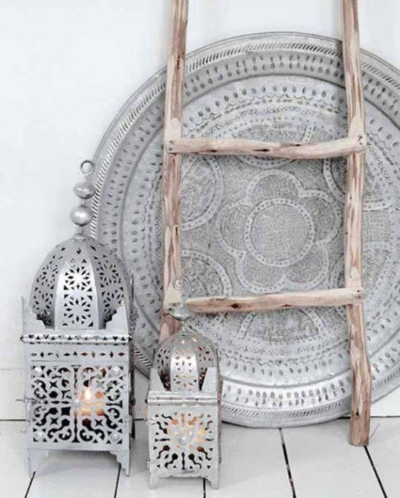 menaras de alpaca, bandeja de te Marruecos
