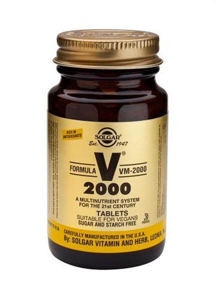 Solgar Formula Vm 2000 Tablets X 60 Formula VM2000 is an high potency multivitamin with chelated mineralsTwo 2 tablets provide Vitamin C as Calcium Ascorbate300mg NutrientHerbal Powder Base260mg Providing Alfalfa, Rosehip Extract, Citru http://www.MightGet.com/january-2017-11/solgar-formula-vm-2000-tablets-x-60.asp