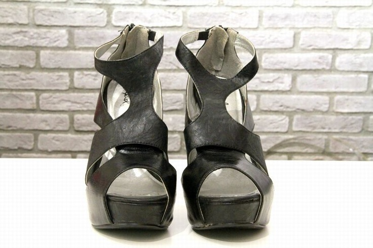 all time black leather ankle high heels!