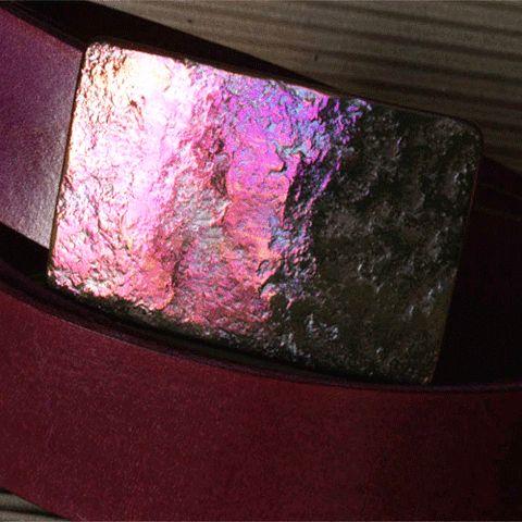 purple glow belt buckle- my urbanware