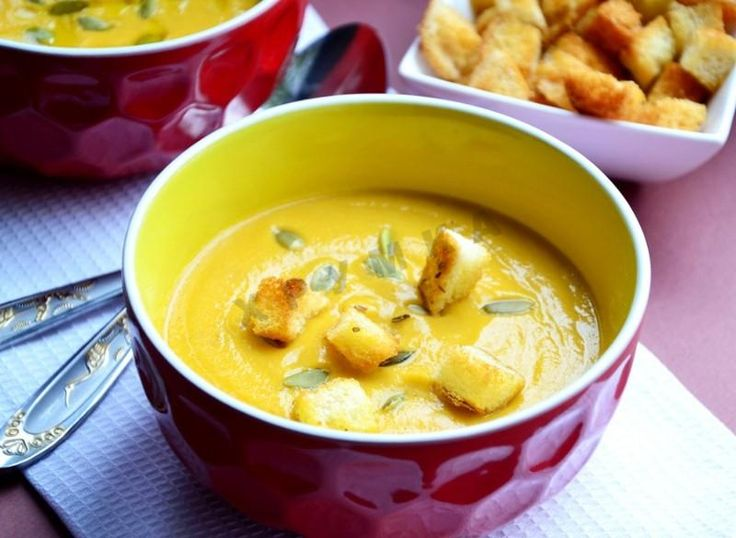 Крем-суп из моркови и красной чечевицы