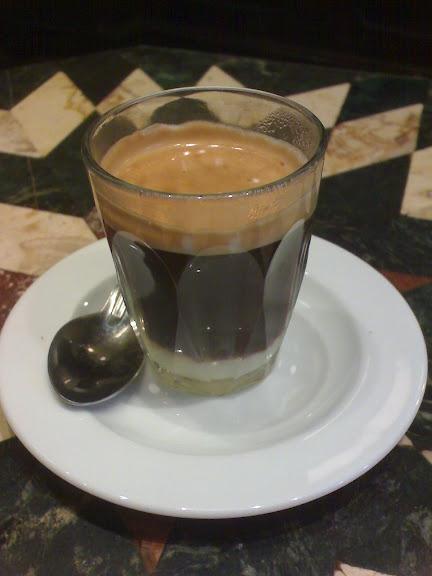 Cafe con Leche Condensada at a Street Cafe, Soho, London / 2010