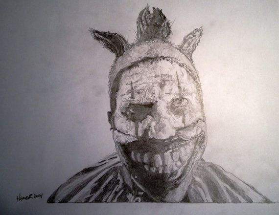 Twisty the clown from american horror story by chunkowood on etsy