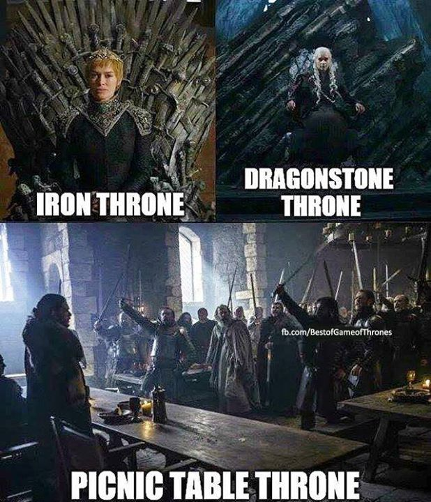 Game of thrones funny meme humour. Iron throne, dragons time, Cersei Lannister, Jon Snow, Daenerys Targaryen