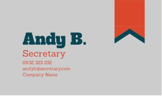 Secretary Business Card. Click here to remix this design: https://www.canva.com/design/DAASNZcorv8/remix
