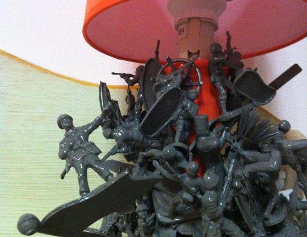Peace II Lamp #hattalab21 #handmade #lamp #toys #toysoldiers