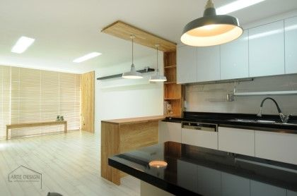 옛날 주방의 변신! 20평대 주방인테리어 모음 : 네이버 블로그
