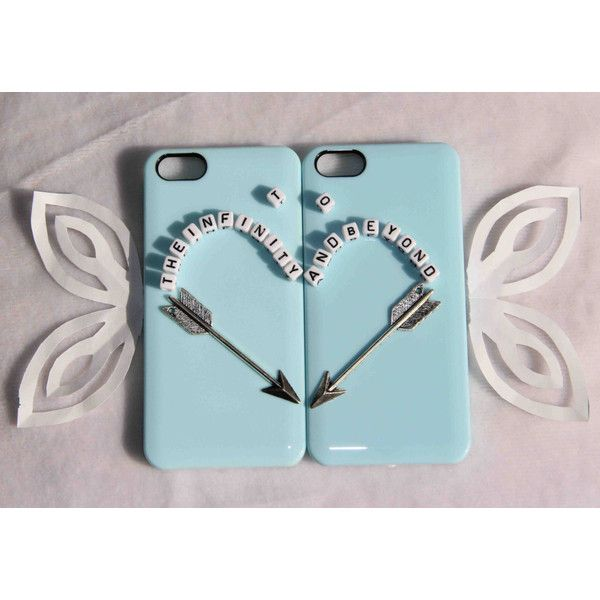 couple phone case to the infinity and beyond best friends protective... ($27) ❤ liked on Polyvore featuring accessories, tech accessories, phone, apple iphone cases, iphone lens case, iphone cover case, iphone cases and iphone 6 case