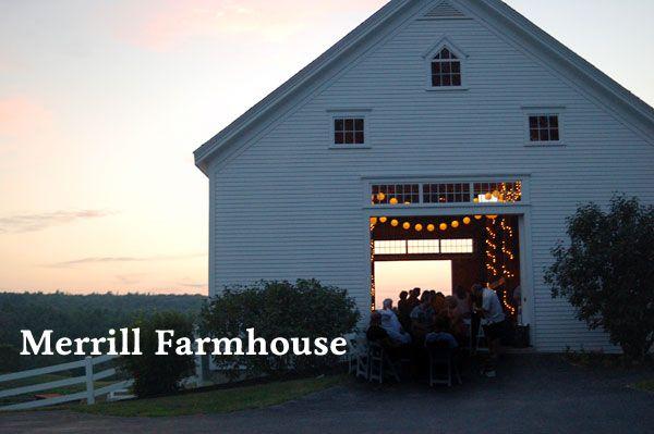 The best Maine barn weddings.