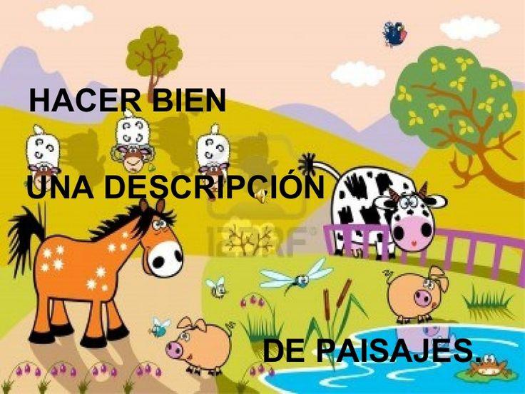 Presentación realizada por Adolfo Victorián Cano para enseñar a describir paisajes en el Primer Ciclo de Primaria