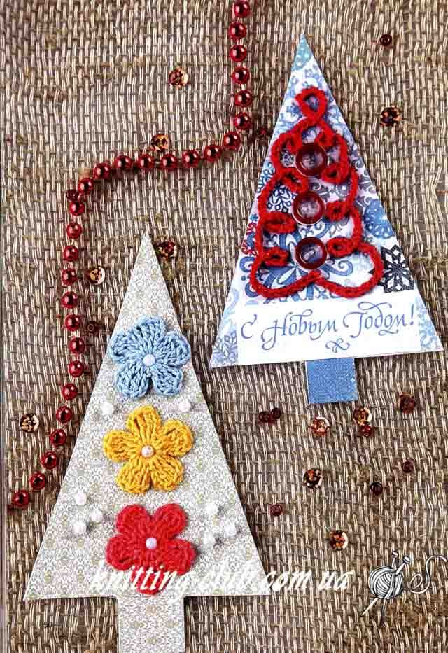 сувенир елочка с цветочками Wwwknitting Clubcomua Christmas