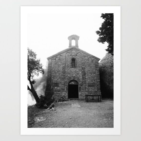 Collect your choice of gallery quality Giclée, or fine art prints custom trimmed by hand in a variety of sizes with a white border for framing. Buy it here! https://society6.com/product/spanish-church-kgb_print?curator=wellglow