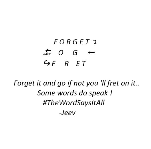 Forget ..do not fret !😎