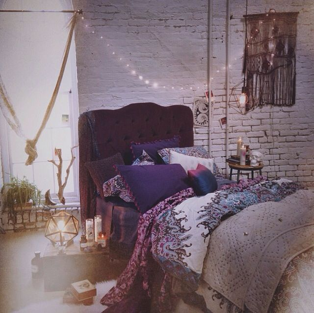 225 best images about boho bedroom ideas on pinterest for Purple bedroom ideas tumblr