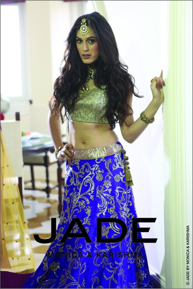 Sequinned Blue lehenga - for more follow my Indian Fashion Boards :)