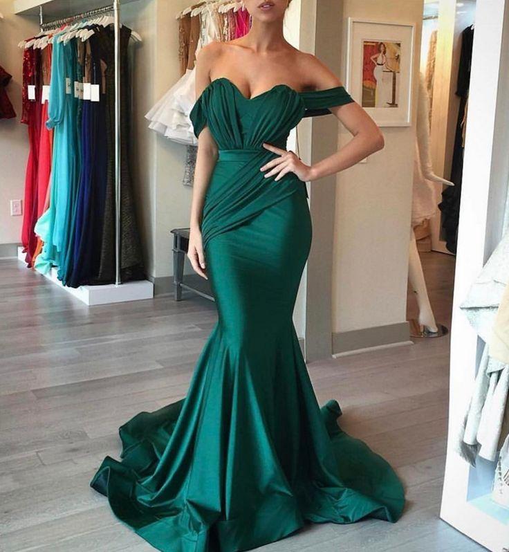 mermaid prom dress,emerald green evening dress,sweetheart formal dress,sexy prom dress