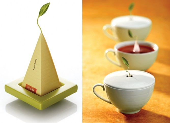 Teaforte tea comes in little pyramids that stand up in your cup while they infuse. And they sell little teacups with a hole for the stem!