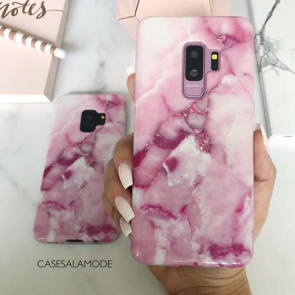 3bf9cce9e5 Rose Pink Marble Samsung Phone Case in 2019 | Clutching My Heart ...