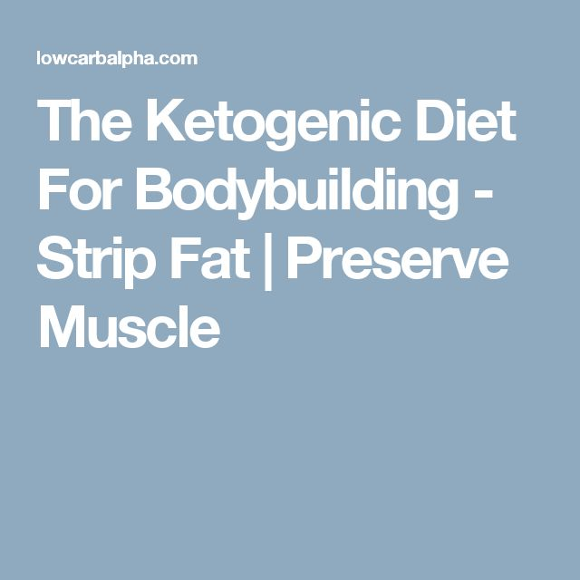 The Ketogenic Diet For Bodybuilding - Strip Fat | Preserve Muscle