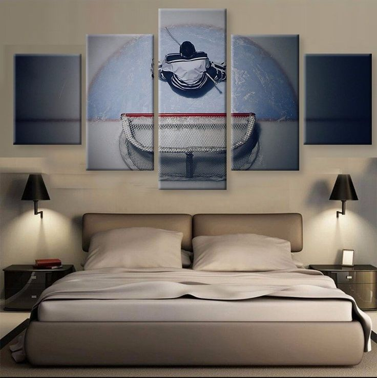 Ice Hockey 5 Pcs Canvas Wall Art