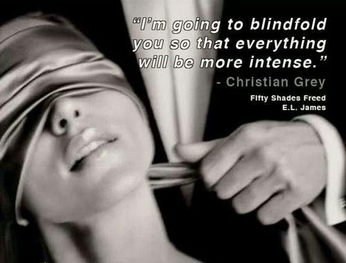 A sexy quote by Christian Grey in steamy scene where he ties up Ana from the third book in the series, Fifty Shades Freed.