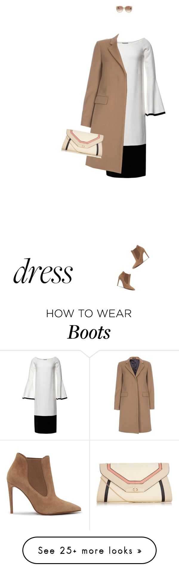 """""""Dress"""" by ladylly on Polyvore featuring Kalmanovich, Paul Smith, Ralph Lauren, Tom Ford and bellsleevedress"""