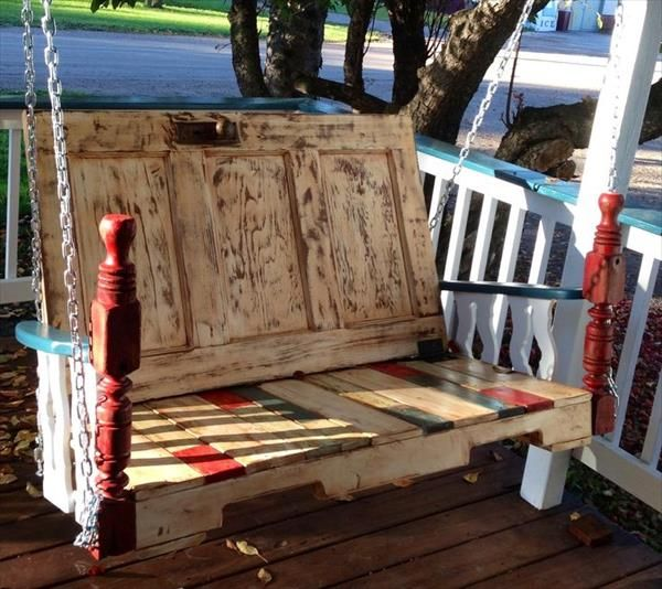 61 best images about pallet swing on pinterest hanging for Easy porch swing