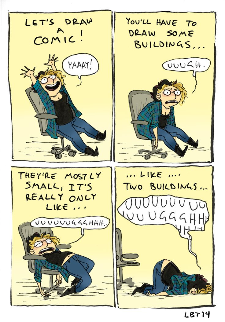 """""""A comic about… artistic limitations."""" Indeed."""