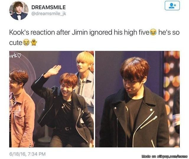 :O for once it was jungkook that was ignored by jimin!