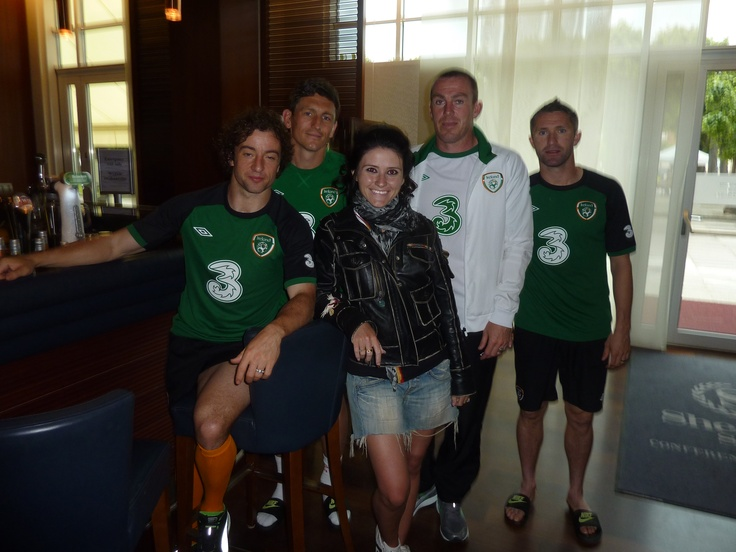They were fantastic! With Stephen Hunt, Keith Andrews, Richard Dunne & Robbie Keane... Hooray for the Irish team!!!
