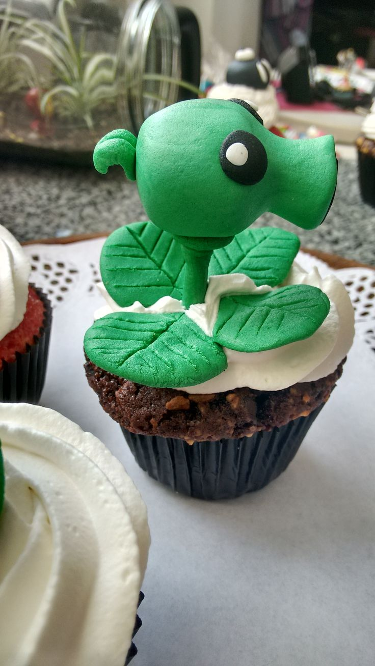 Peashoot cupcake