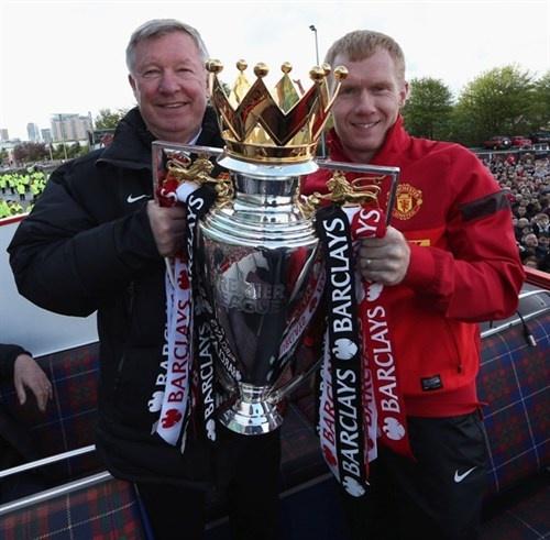 Sir Alex Ferguson and Paul Scholes Two legends