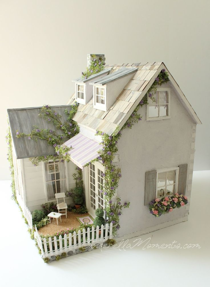 Cinderella Moments: Dollhouse Custom Construction Part 4 - Featuring Lilac Cottage