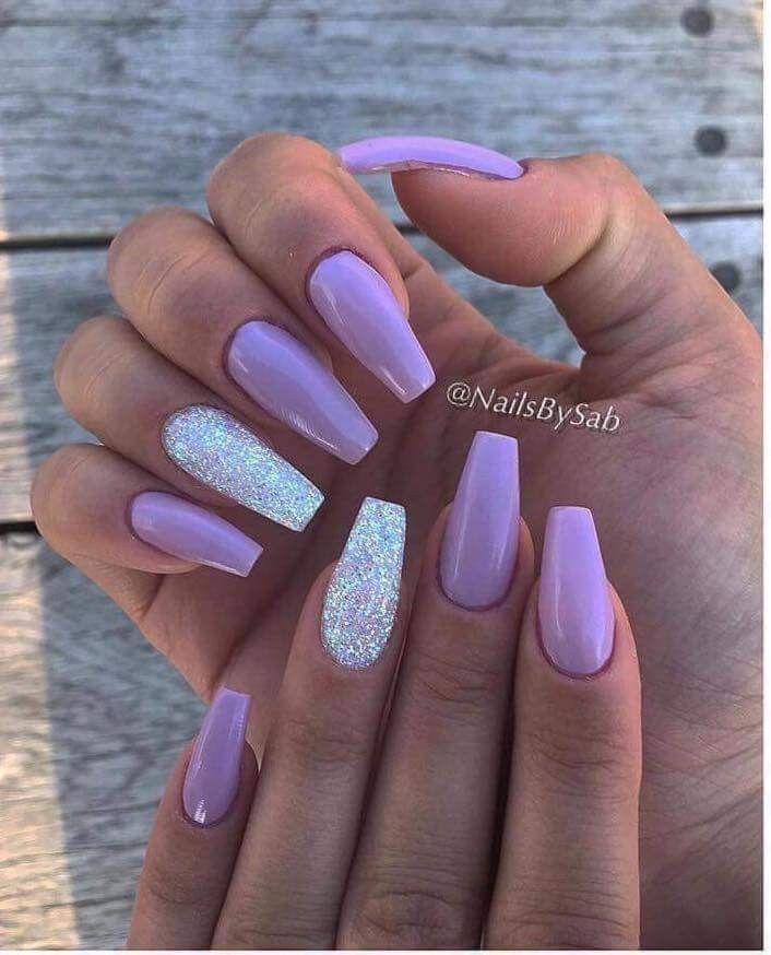 Pin By Bobana Koncar Gajic On Nail Arts Quinceanera Nails Purple Acrylic Nails Lavender Nails
