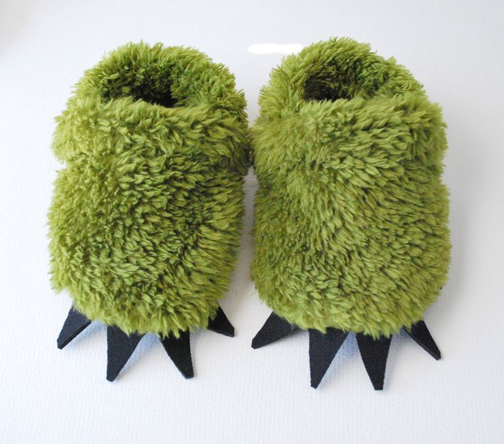 Green Monster Slippers - Toddler