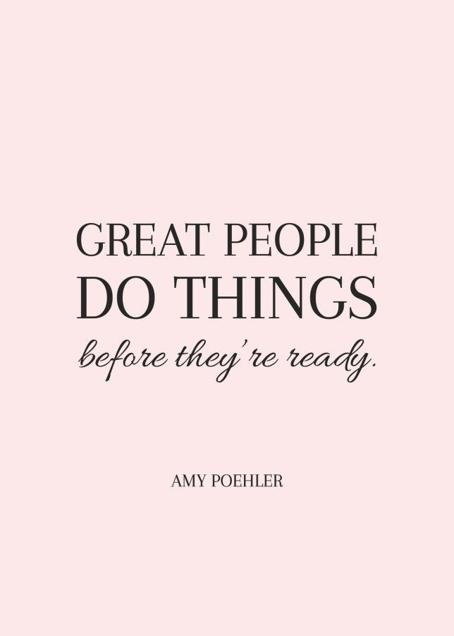 Love this Amy Poehler quote, so inspiring!