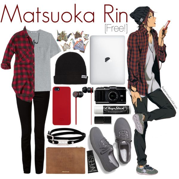 Mastuoka Rin [Free!] by anggieputeri on Polyvore featuring Abercrombie & Fitch, T By Alexander Wang, Keds, McQ by Alexander McQueen, Neff, C6, NARS Cosmetics, Beats by Dr. Dre, Chapstick and free