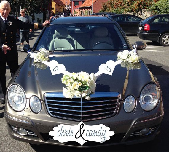 Best Wedding Car Images On Pinterest Wedding Car Decorations - Cool car decals designpersonalized whole car stickersenglish automotive garlandtc