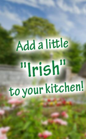 "Add a little ""Irish"" to your kitchen! IrishShop.com's Kitchen and Bar department offers an impressive array of unique Irish themed items. Choose from beautiful crystal, china and ceramic to personalized and everything you need for your Irish pub or kitchen. http://www.irishshop.com/irish-home-decor-bar-kitchen-collectibles/kitchen.html"