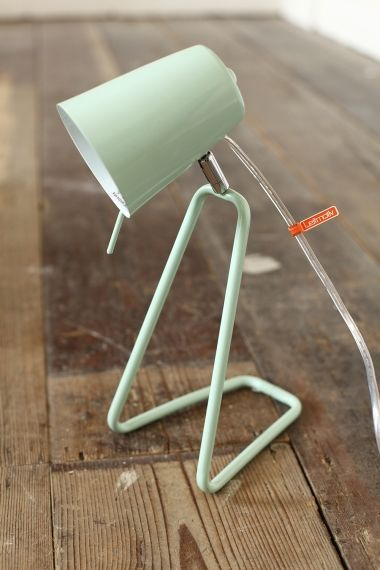 We love this cute mint lamp from Harvey Norman.