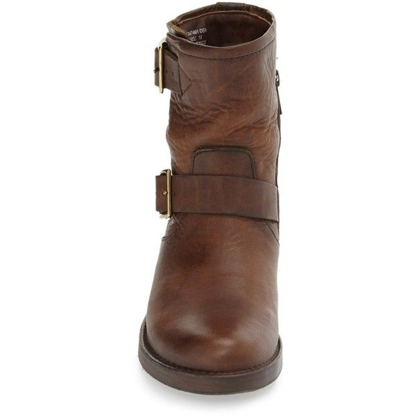 Women's Frye 'Vicky Engineer' Boot ($348) ❤ liked on Polyvore featuring shoes, boots, rugged leather boots, engineer boots, leather biker boots, leather shoes and biker boots
