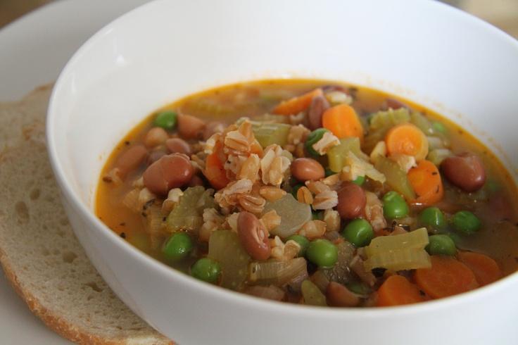 vegetable farro soup | Yummy Foodstuffs | Pinterest