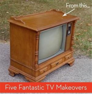 Round Up: 5 Fantastic TV Makeovers. Who would have known? Wish I had known about this about 4 months ago...mom and dad just got rid of theirs!