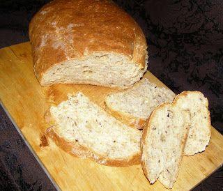 W Mojej Kuchni Lubię.. : chleb żytnio-pszenny z siemieniem lnianym na drożdżach suchych z piekarnika...