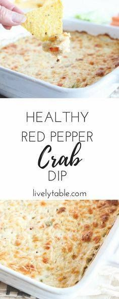 A hot cheesy healt A hot cheesy healthier red pepper crab...  A hot cheesy healt A hot cheesy healthier red pepper crab dip thats perfect a perfect snack or appetizer for guests during football games parties or tailgating! via livelytable.com Recipe : http://ift.tt/1hGiZgA And @ItsNutella  http://ift.tt/2v8iUYW