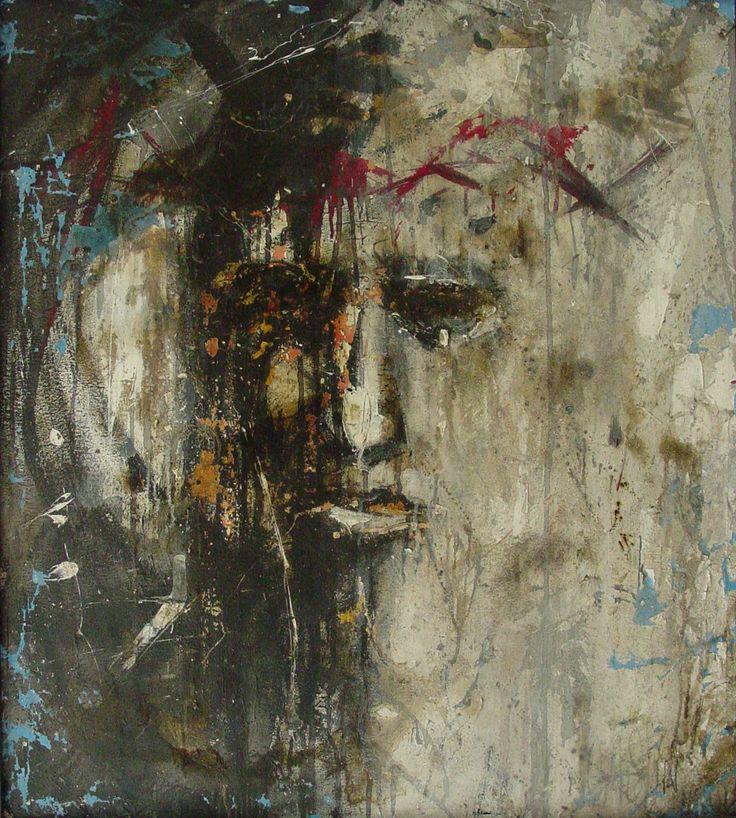"""""""Sangre de Cristo"""" Acrílico/tela 90x100cm"""