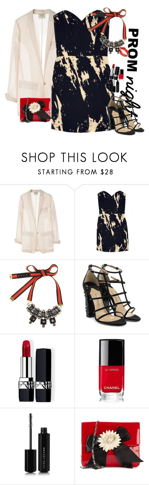 """Prom"" by claire86-c ❤ liked on Polyvore featuring Giada Forte, Olivia Rubin, Marni, Paul Andrew, Christian Dior, Chanel, Marc Jacobs, Moschino, Prom and contest"